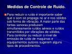medidas de controle de ru do