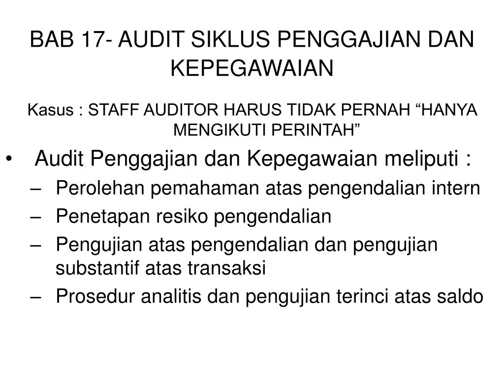 bab 17 audit siklus penggajian dan kepegawaian l.