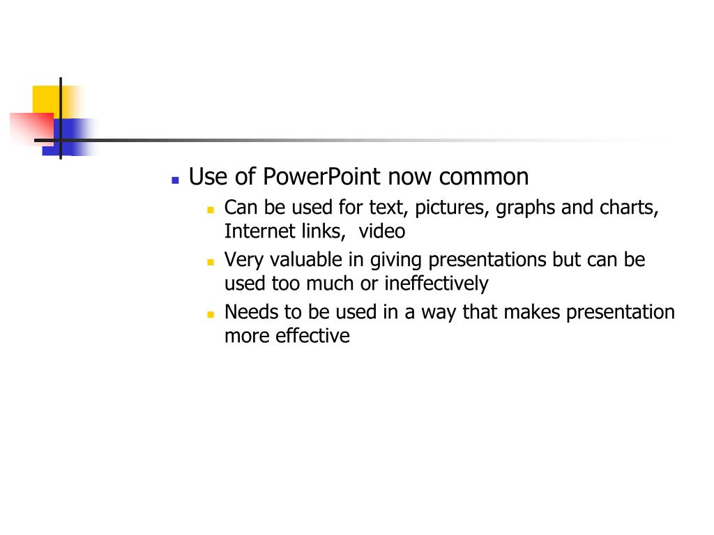 Use of PowerPoint now common