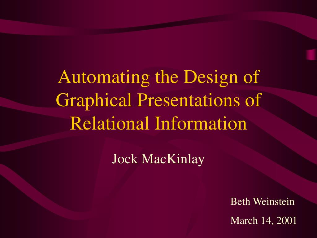 Automating the Design of Graphical Presentations of Relational Information