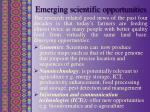 emerging scientific opportunities
