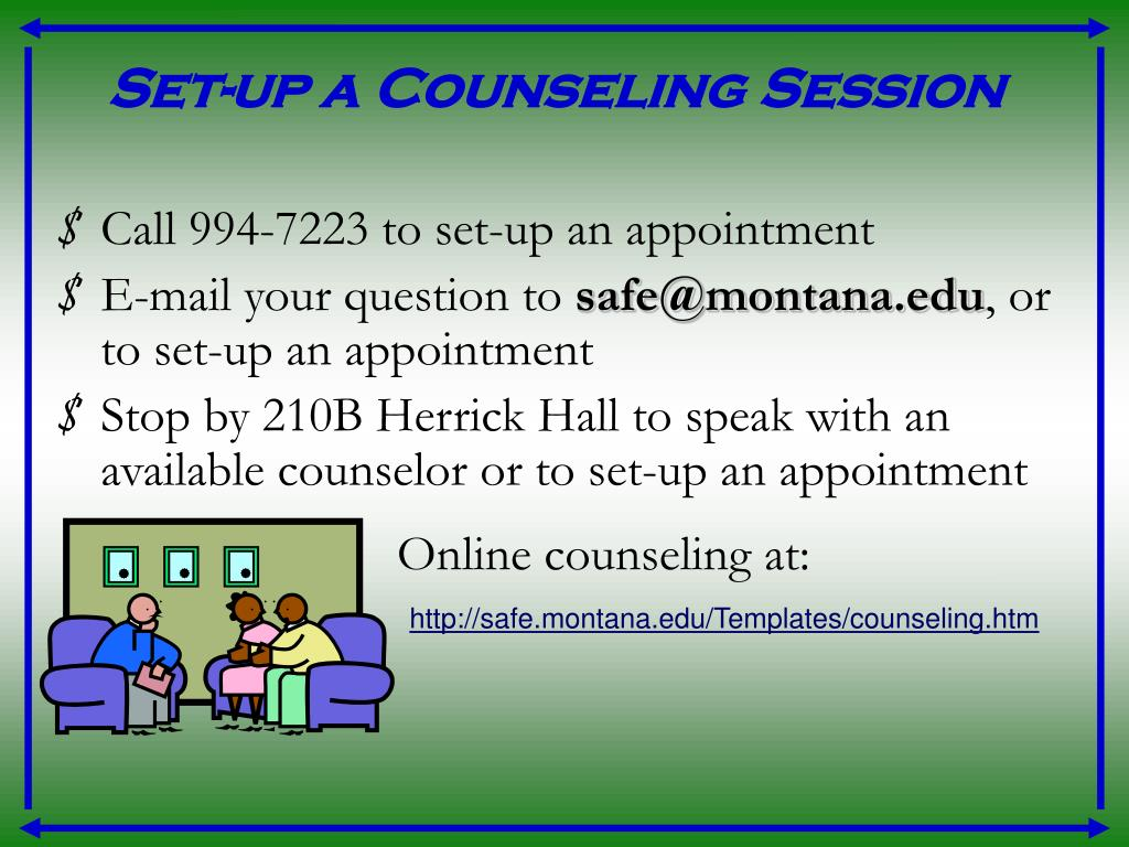Set-up a Counseling Session