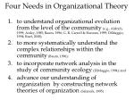 four needs in organizational theory