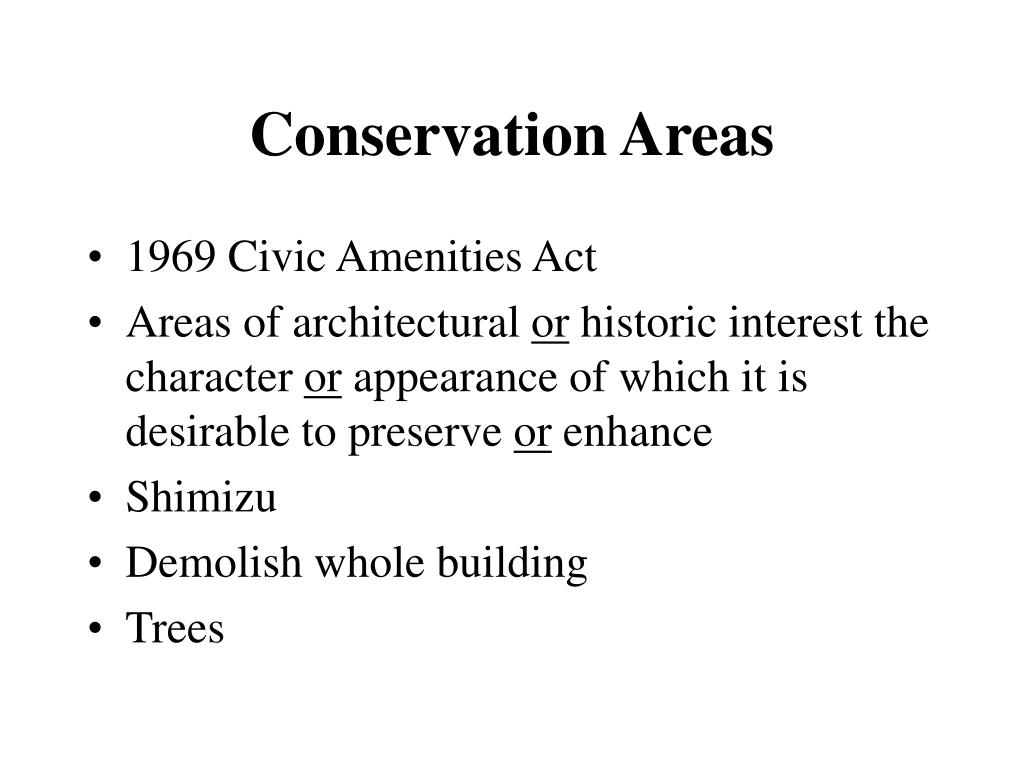 Conservation Areas