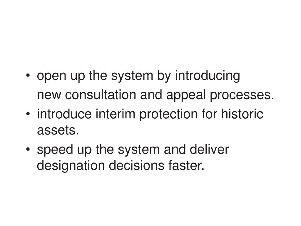 open up the system by introducing