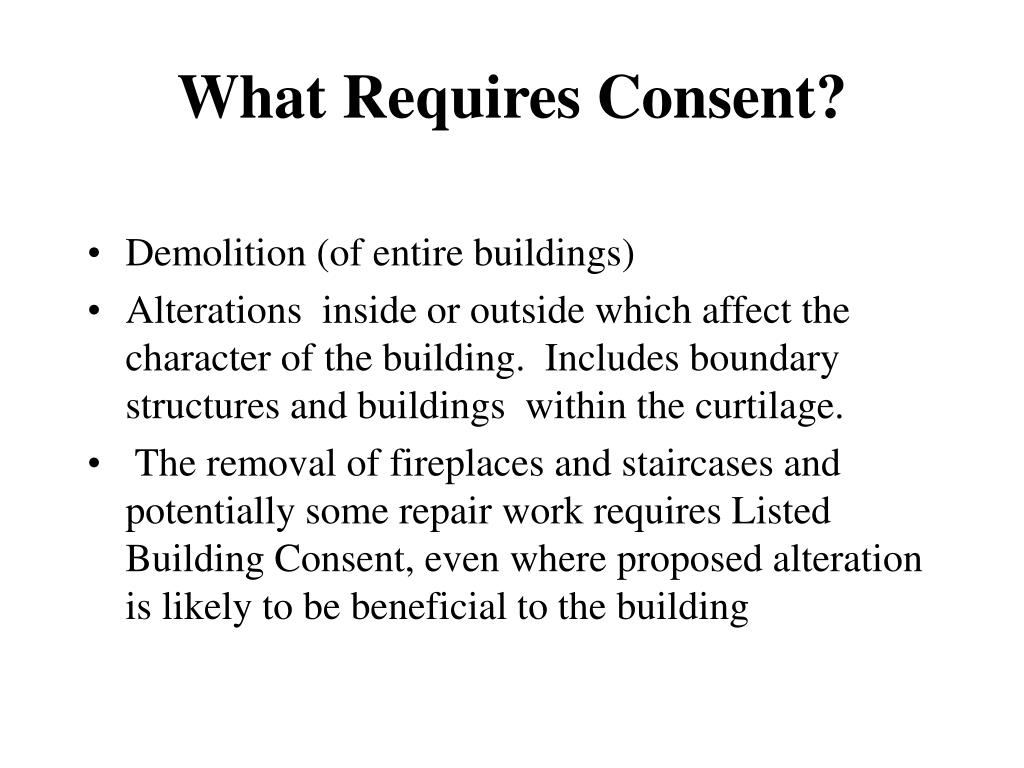 What Requires Consent?