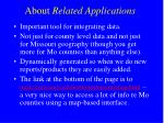 about related applications