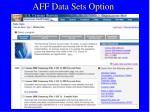 aff data sets option