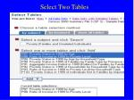 select two tables