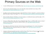 primary sources on the web