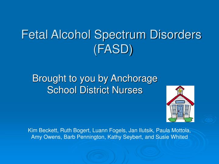 fetal alcohol spectrum disorders fasd n.