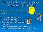 strategies to improve outcomes for students with a fasd2