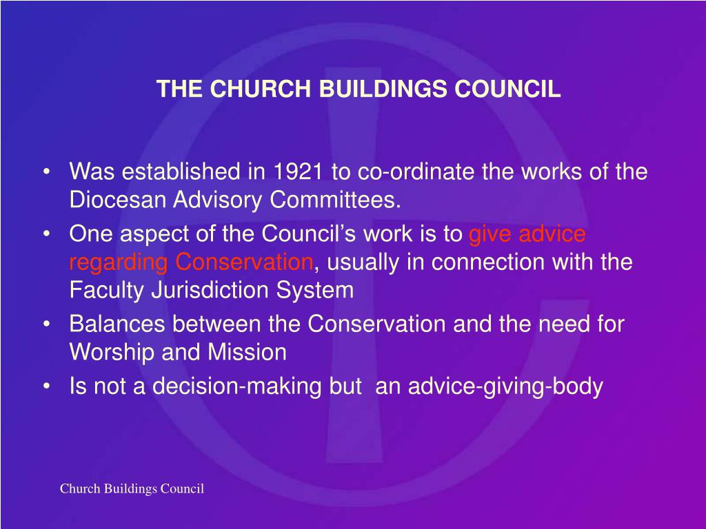 THE CHURCH BUILDINGS COUNCIL