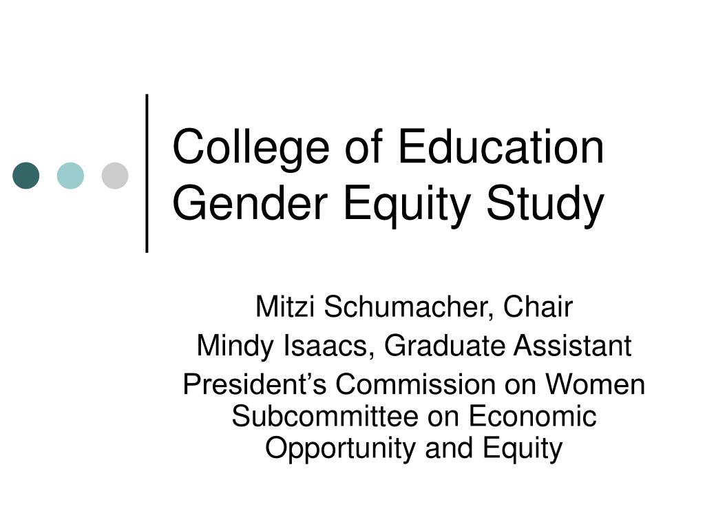 college of education gender equity study l.