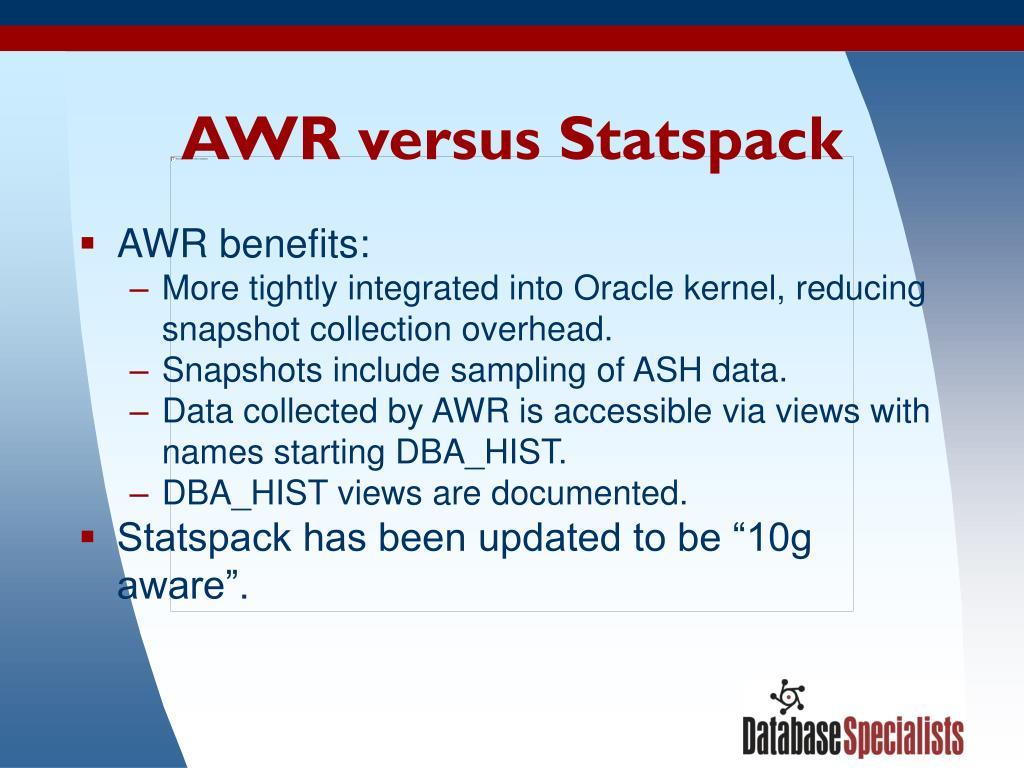 AWR versus Statspack