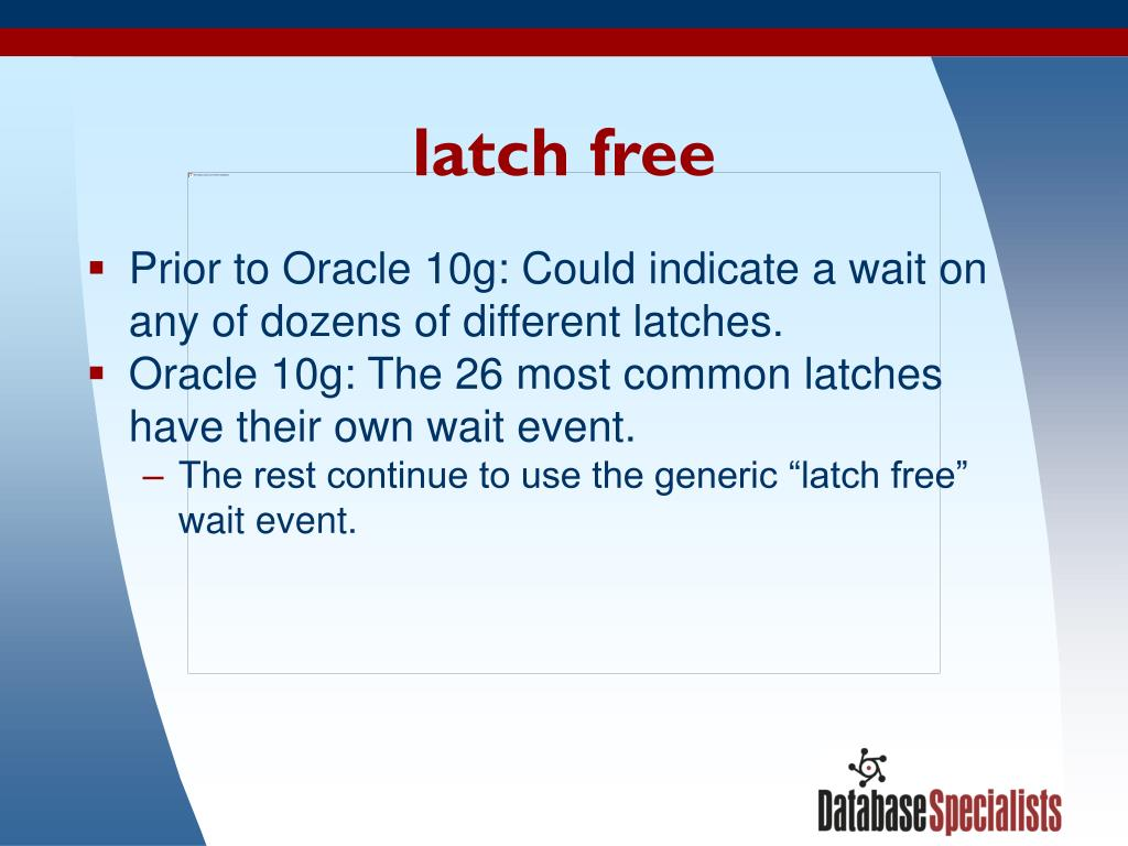 latch free