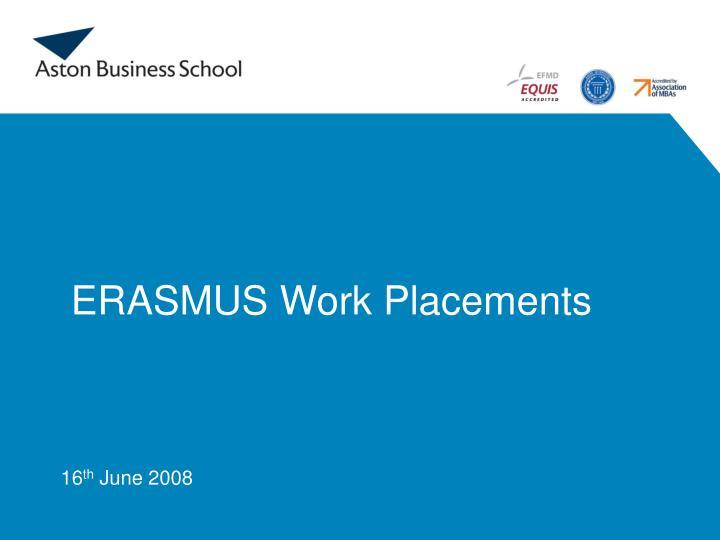 erasmus work placements n.