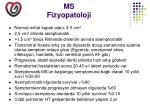 ms fizyopatoloji