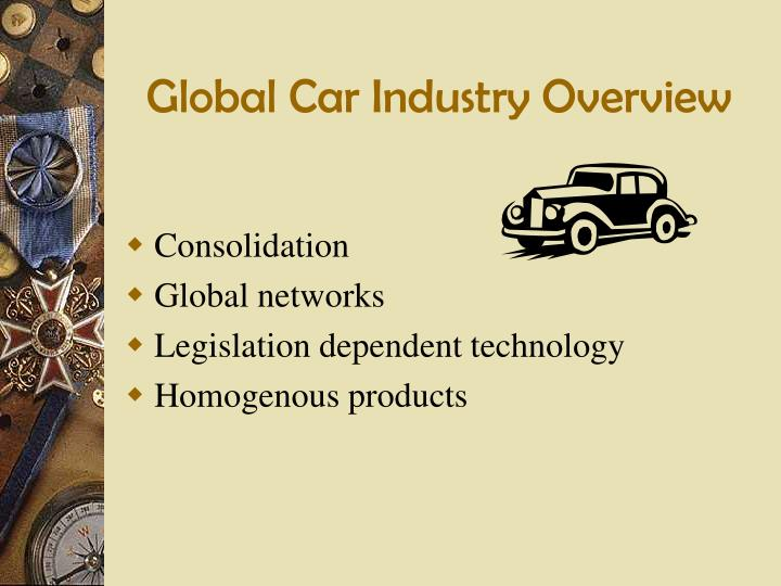 global car industry overview n.
