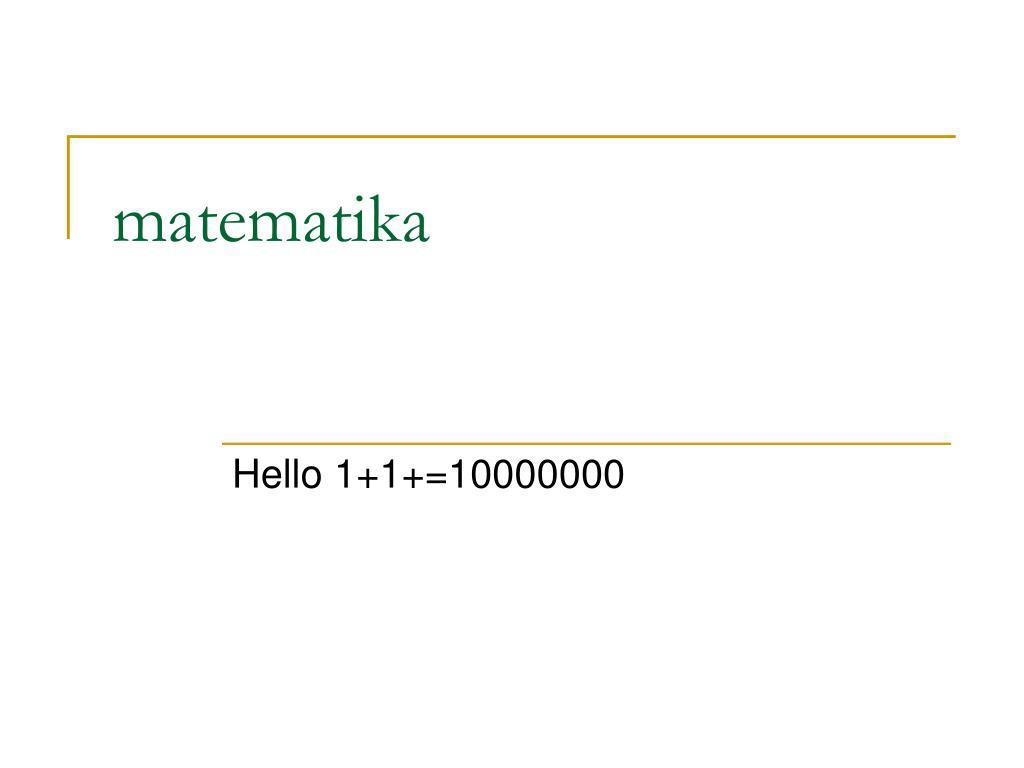 matematika l.