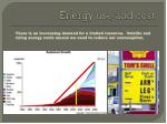 energy use and cost