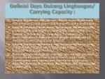 definisi daya dukung lingkungan carrying capacity