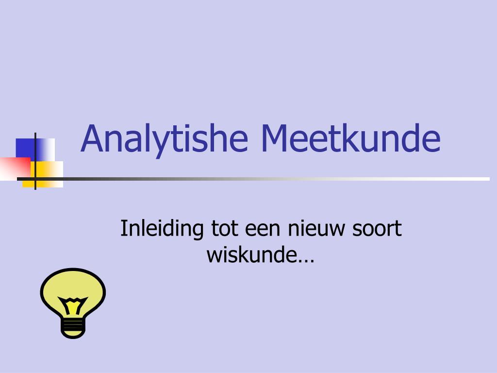 analytishe meetkunde l.