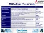 melfa basic iv commands