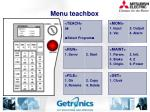 menu teachbox