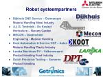 robot systeempartners