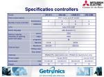 specificaties controllers