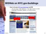 bisweb on nyc gov buildings