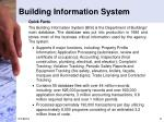 building information system