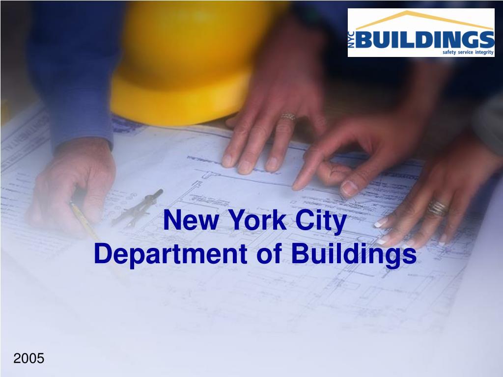 new york city department of buildings l.