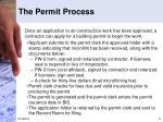 the permit process