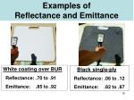 examples of reflectance and emittance
