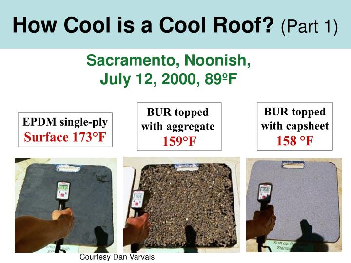 How cool is a cool roof part 1