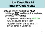 how does title 24 energy code work