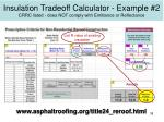 insulation tradeoff calculator example 2 crrc listed does not comply with emittance or reflectance
