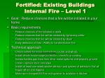 fortified existing buildings internal fire level 1