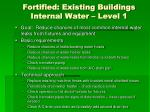 fortified existing buildings internal water level 1