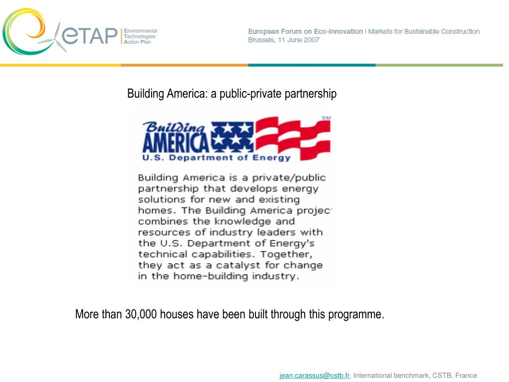 Building America: a public-private partnership