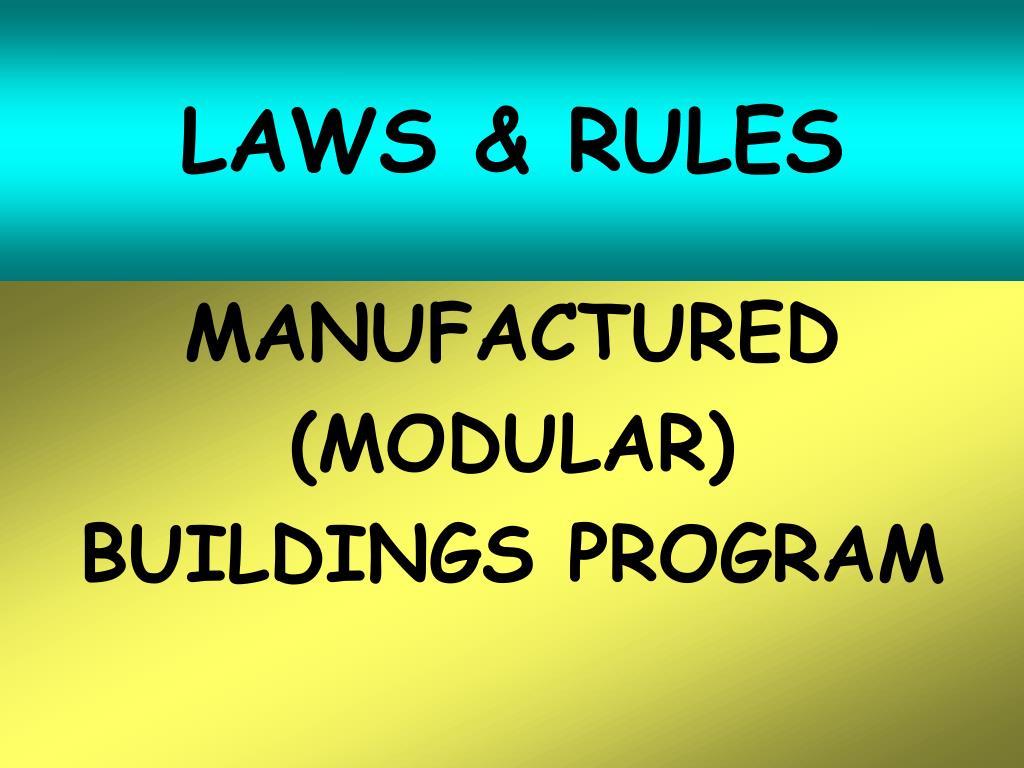 laws rules l.