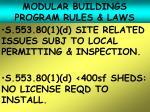 modular buildings program rules laws23