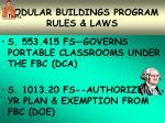 modular buildings program rules laws24