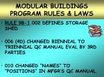 modular buildings program rules laws26