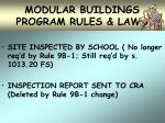 modular buildings program rules laws27