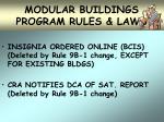 modular buildings program rules laws28