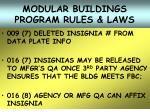 modular buildings program rules laws29