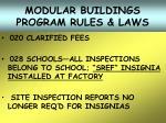 modular buildings program rules laws30